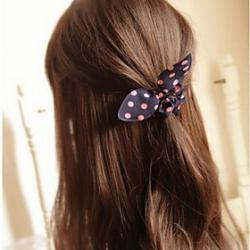 Low Price on Bowknot Rabbit Ears Simple Practical High Elastic Hair Bands (Color Random)
