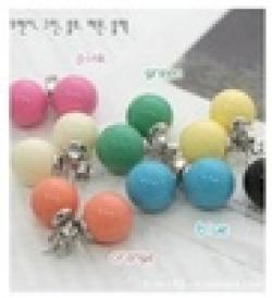 Low Price on Min Order is $15, Fashion Vintage Multicolor Sweet Ball Round Stud Earrings Wholesale Women's Earring Fashion Jewelry E189