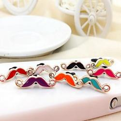 Low Price on Moustache Shaped Oil Drop Alloy Anti-dust Plug(Random Color)